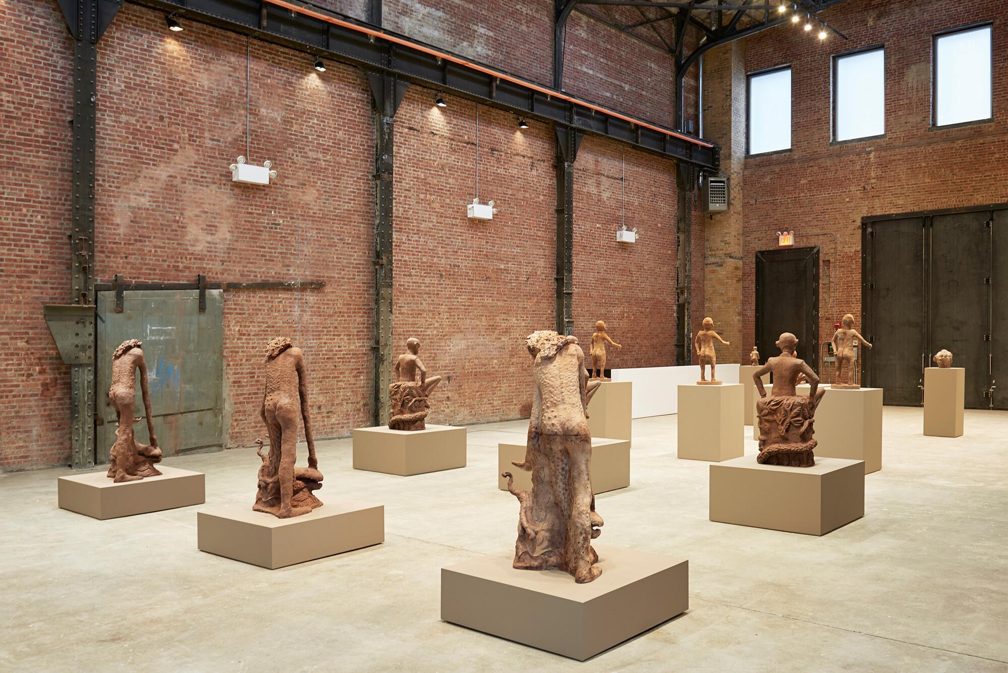 sculpturecenter s winter exhibitions art jobs news view of cercle d art des travailleurs de plantation congolaise sculpturecenter new york 2017 photo kyle knodell