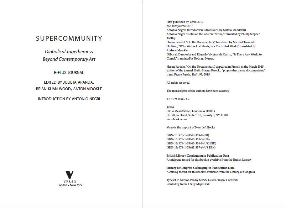 Supercommunity: Diabolical Togetherness Beyond Contemporary