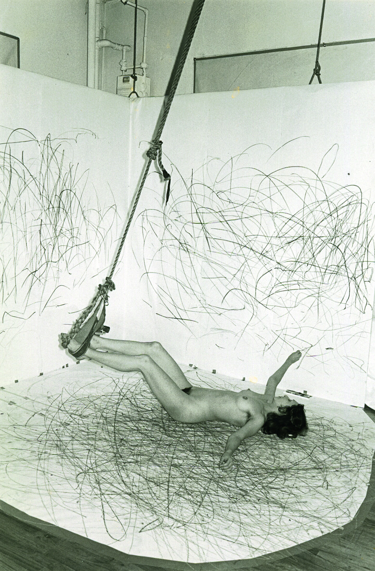 Carolee Schneemann, Up to and Including Her Limits, 1973-1977. Courtesy  Carolee Schneemann, VG Bild-Kunst, Bonn 2017.